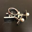 指輪とカフスボタンの4点セット