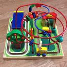 木のおもちゃ 知育玩具 カラフルビーズコースター