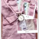 ピンクのボア仕様のモコモコロングコート定価6372円