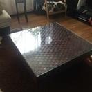 アジアン家具コーナーソファーテーブルセット