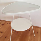 IKEA サイドテーブル (強化ガラス)