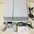 【中古】PS4(白500GB)+コントローラー付き【先着順】