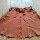 Auntie Rosa 茶色 リボンスカート