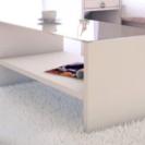 ◆ガラスローテーブル ホワイト
