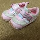 13㎝ 美品 エニィファム リボンとハートのスニーカー 靴