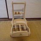【ベビーウォーカー】 カタカタ 木製 手押し車