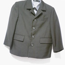 110cm 男の子スーツセット(シャツ、サスペンダー、ネクタイ2本つき)