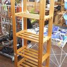 札幌 引き取り 木製ラック 4段 オープンラック/本棚 収納棚 カ...