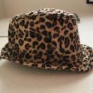 ヒョウ柄帽子