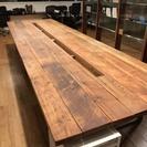 おしゃれな木と鉄で出来たの長机・ミーティングテーブル・ワークテーブ...