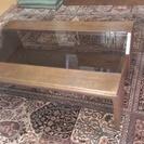 カリモク ロー テーブル ガラス天板 古いです