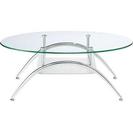 ◇ガラス天板テーブル オーバル型~新品です!◇