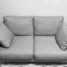 【美品】布張り2人用ソファー