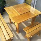木製ガーデンテーブルセット