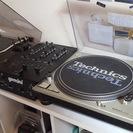 DJ機材セット!!Technicsターンテーブル2台 gemini...