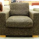 1Pソファ 1人掛け ブラウン 茶系 布製 沼田椅子製作所 未使用展示品