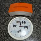 ★ 3点1000円!犬の壁掛け時計とティッシュボックスとスカル柄ブ...