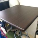 カフェテーブル 60×60cm 高さ調節可能