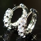 ダイヤモンド【ラインストーン】ワンタッチピアス【ホワイトゴールド】