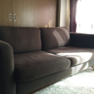IKEA 布張りソファ ブラウン