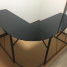 【送料無料】L字型ガラスデスク