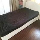ニトリ シングルベッド 収納付 ホワイト フレームのみ
