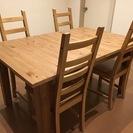 IKEA ダイニングテーブル (伸縮式) & 椅子4脚セット