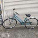 一時停止!27インチ Tハンドル 水色 ギア付 中古自転車
