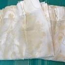 【新品】刺繍入り 白いレースカーテン