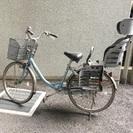 後ろ子供乗せ自転車24インチ  パンクあり。