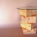吉野 檜 デザイナーズ コーヒーテーブル 美品