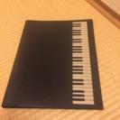 ほぼ未使用 ☆ ピアノ 柄 ファイル