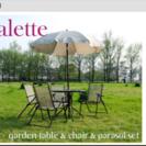 パラソル、椅子テーブル4点セット
