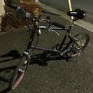 【ミニベロ】小型の黒い自転車