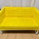 【ikea】コンパクトな黄色いソファ