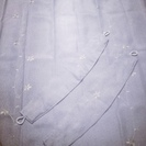 新品同様 美品★遮光 カーテン2枚 100×178 桜 刺繍入り 薄紫