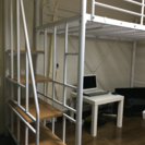 【2ヶ月使用】階段付きロフトベット、ホワイト