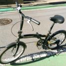 取引完了【タイヤ減り無し】折り畳み自転車 黒 板橋区