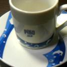 おしゃれなコーヒーカップと受け皿