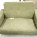 2人掛けソファ 2Pソファ グリーン 緑 布製