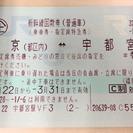 東北新幹線自由席回数券 東京-宇都宮 3/31まで有効