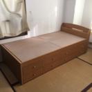 シングルベッド大量収納引き出し6つ