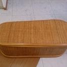 籐のベンチ椅子(収納有り)