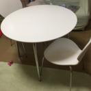 ニトリダイニングテーブル ラフィネ イス2脚