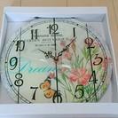 191 フラワープリント 壁掛け時計
