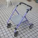 折り畳み歩行器、椅子 ハビナース らくらくウォーカー