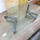 札幌 引き取り マルニ木工 maruni 半円ガラステーブル 中古品