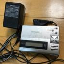 シャープ★MDプレーヤー★録音可能★MD-MS200-S