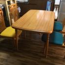 【取引確定しました】ダイニングテーブルと椅子4脚付き