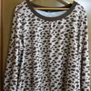 【郵送可】大きいサイズ 豹柄長袖シャツ 4L